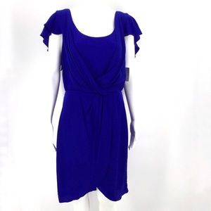 SUZI CHIN FOR MAGGY BOUTIQUE Dress 10 Silk Blue